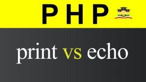 تفاوت echo و print